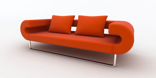 Modern orange sofa Royalty Free Stock Image
