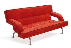 Modern orange sofa Royalty Free Stock Photo