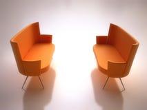 Modern Orange Sofas vector illustration
