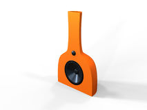 Modern Orange Speaker Stock Photography