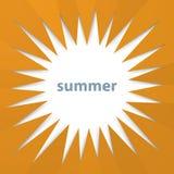 Modern orange sunburst summer background from hexagonal folded paper texture Stock Photos