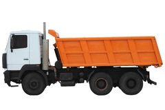 Modern Orange truck. stock photos