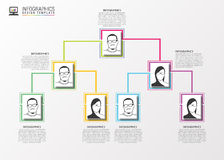 Modern organization chart template. Vector Stock Photography