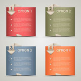 Modern origami colored options background. Vector eps 10 Royalty Free Stock Photos