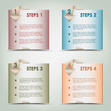 Modern origami colored steps background Royalty Free Stock Photography