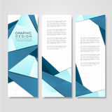 Modern origami style design for banners set Royalty Free Stock Photo
