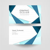 Modern origami style design for business card Stock Images