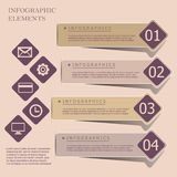 Modern origami style infographic banners Royalty Free Stock Photo