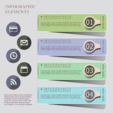 Modern origami style infographic banners Stock Images