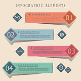 Modern origami style infographic banners Royalty Free Stock Images