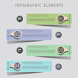 Modern origami style infographic banners Royalty Free Stock Photos