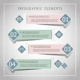 Modern origami style infographic banners Stock Photography