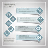 Modern origami style infographic banners Stock Photo