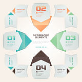 Modern Origami Style Number Options Infographic Illustration Stock Photography