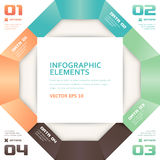 Modern Origami Style Number Options Infographics Banner Stock Photos