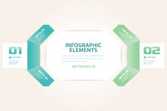 Modern Origami Style Number Options Infographics Banner Royalty Free Stock Image