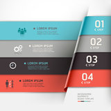 Modern origami style options banner. Royalty Free Stock Photography