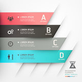 Modern origami style options banner. Stock Image