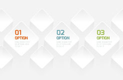 Modern Origami style options banner vector illustration