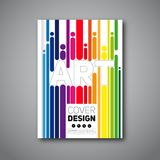 Modern original flyer design. Vector template for magazine covers, brochures with curved lines Stock Images