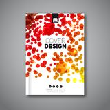 Modern original flyer design. Vector template for magazine covers, brochures with dots Stock Photos