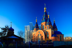 Modern orthodox church Stock Image