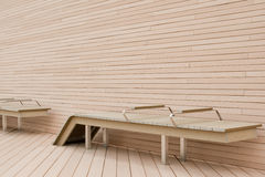 Modern outdoor benches Royalty Free Stock Photo