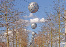Modern outdoor decoration Royalty Free Stock Images