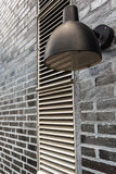 Modern Outdoor Lamp Light on Wall Stock Photography