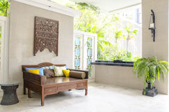 Modern outdoor living room Stock Images