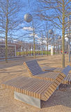 Modern outdoor seating Royalty Free Stock Image