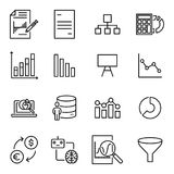 Modern outline style analysis icons collection. Premium quality symbols and sign web logo collection. Pack modern infographic logo and pictogram. Simple chart Stock Photography