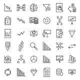 Modern outline style analysis icons collection. Premium quality symbols and sign web logo collection. Pack modern infographic logo and pictogram. Simple chart Royalty Free Stock Image