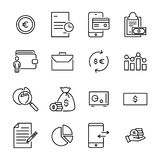 Modern outline style banking icons collection. Premium quality symbols and sign web logo collection. Pack modern infographic logo and pictogram. Simple money Stock Images