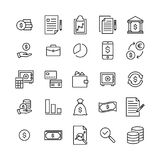 Modern outline style banking icons collection. Premium quality symbols and sign web logo collection. Pack modern infographic logo and pictogram. Simple money Stock Photography