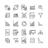 Modern outline style big data icons collection. Premium quality symbols and sign web logo collection. Pack modern infographic logo and pictogram. Simple Stock Images