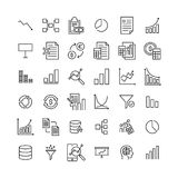 Modern outline style big data icons collection. Premium quality symbols and sign web logo collection. Pack modern infographic logo and pictogram. Simple Stock Photography