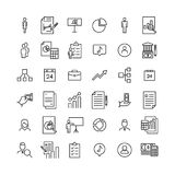 Modern outline style business icons collection. Stock Photo