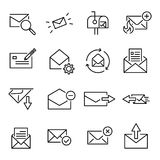 Modern outline style email icons collection. Premium quality symbols and sign web logo collection. Pack modern infographic logo and pictogram. Simple letter Royalty Free Stock Photos