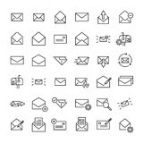 Modern outline style email icons collection. Premium quality symbols and sign web logo collection. Pack modern infographic logo and pictogram. Simple letter Royalty Free Stock Images