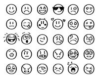 Modern outline style emoji icons collection. Premium quality symbols and sign web logo collection. Pack modern royalty free illustration