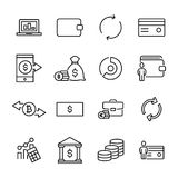 Modern outline style finance icons collection. Premium quality symbols and sign web logo collection. Pack modern infographic logo and pictogram. Simple money Stock Images