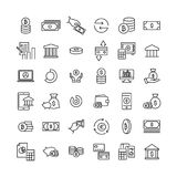 Modern outline style finance icons collection. Premium quality symbols and sign web logo collection. Pack modern infographic logo and pictogram. Simple money Stock Photo