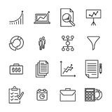 Modern outline style freelance icons collection. Stock Photos