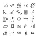 Modern outline style investments icons collection. Premium quality symbols and sign web logo collection. Pack modern infographic logo and pictogram. Simple Stock Photography