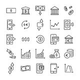 Modern outline style investments icons collection. Premium quality symbols and sign web logo collection. Pack modern infographic logo and pictogram. Simple Stock Images