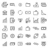 Modern outline style investments icons collection. Premium quality symbols and sign web logo collection. Pack modern infographic logo and pictogram. Simple Royalty Free Stock Images
