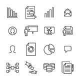 Modern outline style leadership icons collection. Stock Photos