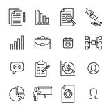Modern outline style management icons collection Stock Images
