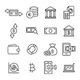 Modern outline style money icons collection. Premium quality symbols and sign web logo collection. Pack modern infographic logo and pictogram. Simple finance Stock Photography